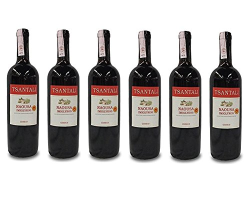 6x Imiglykos Naousa Rotwein lieblich Tsantali je 750ml/11,5% + 2 Probier Sachets Olivenöl aus Kreta a 10 ml - griechischer roter Wein Rotwein Griechenland Wein Set
