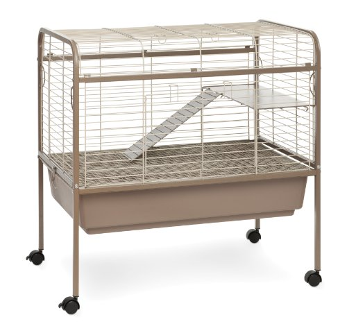 Prevue Hendryx 425 Pet Products Small Animal Cage with Stand, 32-Inch by 21-1/2-Inch by 33-1/2-Inch,Coco/White