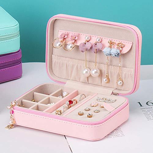 MDHANBK Caja de joyería Simple y portátil Caja de Almacenamiento de Pendientes de Oreja Caja de joyería de Regalo de Belleza Caja de Anillo