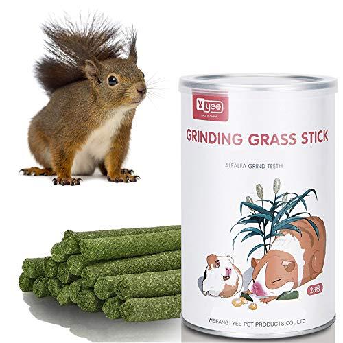 JMZYQ Palos de Heno Juguetes para Masticar Animales Pequeños Mascota Timothy Palitos Chew Toy para Conejos, Chinchillas, Conejillos de Indias, hámsters (Alfalfa)