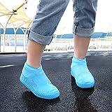 iTimo 1 par de fundas impermeables para botas de lluvia para camping al aire libre, reutilizables, antideslizantes, color azul, talla S