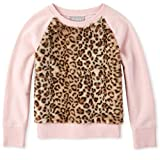 The Children's Place Girls' Big Faux Fur Sweater, Pink Tinge, S (5/6)