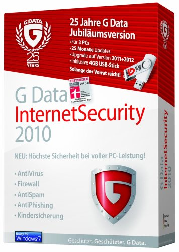 G Data InternetSecurity 3PC, 25 Monate Updates, inkl. 4 GB USB Stick