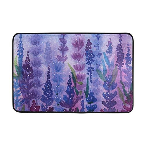 Purple Lavender Indoor Door Mat - Absorbent Door Mats for Home Entrance - Welcome Mats for Front Door - Welcome Mat - 23.6'x15.7'Indoor Outdoor Rug - Entry Rug - Front Door Mat Outdoor - Purple