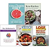 The Collagen Diet, Keto Kitchen, No Alzheimer's Smarter Brain Keto Solution, The Keto Crock Pot Cookbook for Beginners, The Keto Diet for Beginners 5 Books Collection Set