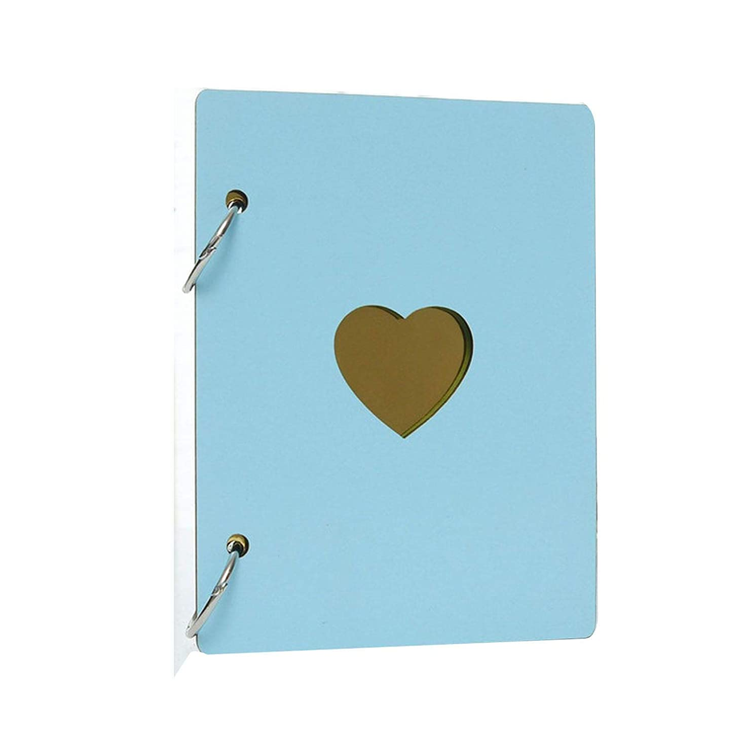 start-imagine Fashion 6 Inch Wooden Cover DIY Photo Album Baby Growth Memory Albums Life Photo Embossed Book Wedding Photo,Sky Blue