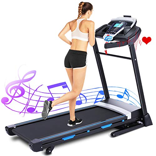ANCHEER Treadmills for Home, 3.25HP APP Folding Treadmill with Automatic Incline, Walking Running Jogging Machine for Home/Gym Cardio Use Max Weight Capacity 350lbs