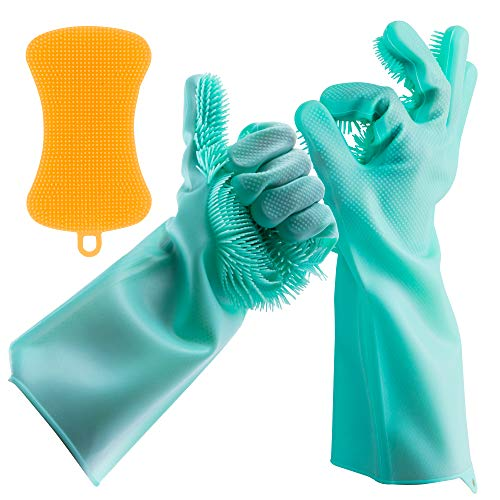 Dishwashing Gloves Silicone Scrubber Reusable
