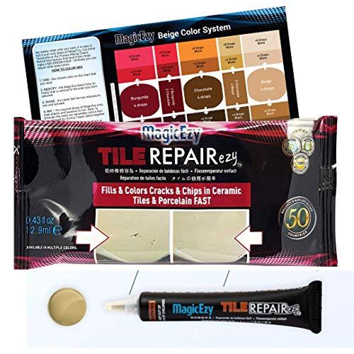 MagicEzy Tile RepairEzy - (Honey Beige) Porcelain and Ceramic Tile...
