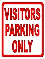 Visitors Parking Only 金属板ブリキ看板警告サイン注意サイン表示パネル情報サイン金属安全サイン