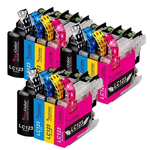 YINGCOLOR - Cartuchos de tinta para Brother LC123 LC123XL para Brother DCP-J4110DW MFC-J6520DW MFC-J4410DW MFC-J4510DW MFC-J470DW MFC-J650DW MFC-J6920DW MFC-J6720DW MFC-J4610DW MFC-J870DW, 13 unidades