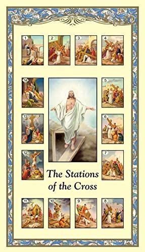 Stations of the Cross Holy Card with Prayer Bulk Set Pack of 24 product image