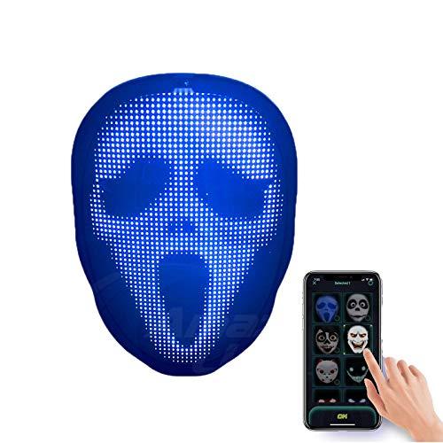 WYCY Maschera per Il Viso a LED Maschera Luminosa con...