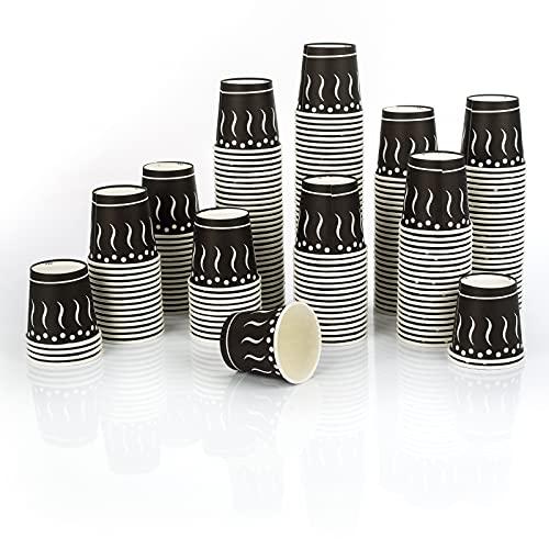 200 Vasos Carton desechables de Cafe 120ML para llevar - Cafe, bebidas calientes y frías