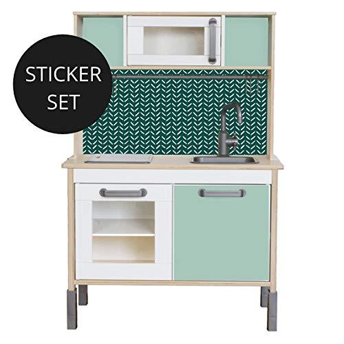Limmaland Sticker für IKEA DUKTIG (Grün) - Kinderküche Nicht inklusive