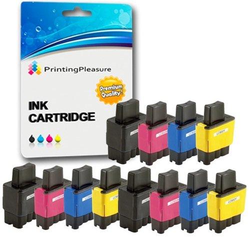 12 Tintenpatronen kompatibel zu LC900 LC950 für Brother MFC-210C 215C 3340CN 410CN 425CN 5440CN 5840CN DCP-110C 115C 117C 310CN 315CN 340CW Fax-1840C 1940CN - Schwarz/Cyan/Magenta/Gelb, hohe Kapazität