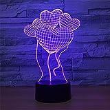 LT&NT 3d ilusión óptica lámpara, Colores de lámparas bluetooth altavoz base led 5 de globo noche luz escritorio mesa cambian usb cable kids niños increíble navidad regalos decoración -Bocina Bluetooth