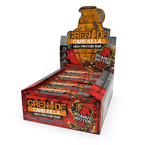 Grenade Carb Killa Barretta Proteica a Basso Contenuto di Carboidrati, 12 x 60 g - Peanut Nutter