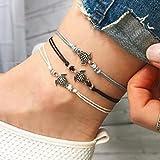 Jovono Böhmen Fußkettchen Boho Beach Foot Jewelry Schildkröte Fußkette für Damen...