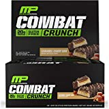 MusclePharm Combat Crunch Protein Bar, 20g Protein, Caramel Candy Bars, 12 Count