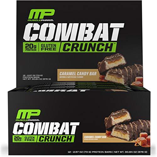 MusclePharm: Combat Crunch Bars 12 Bars Caramel Candy Bar