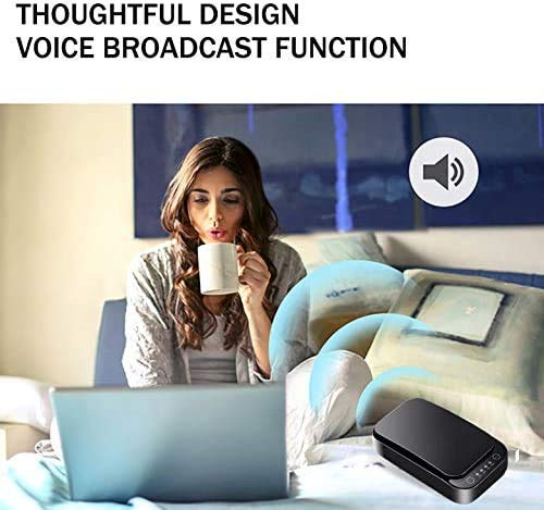 KEDRON U12 UV Phone Sanitizer, Portable Smartphone Sterilizer Cleaner Case, Household Sterilizer Box Multi-Function Box with USB Charging for 6 Inch Mobile Phone