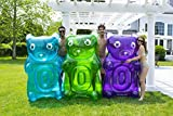 Swimline Inflatable Gummy Bear Pool Float Assortment, Blue, Green, Purple, 60' x 37' x 20'