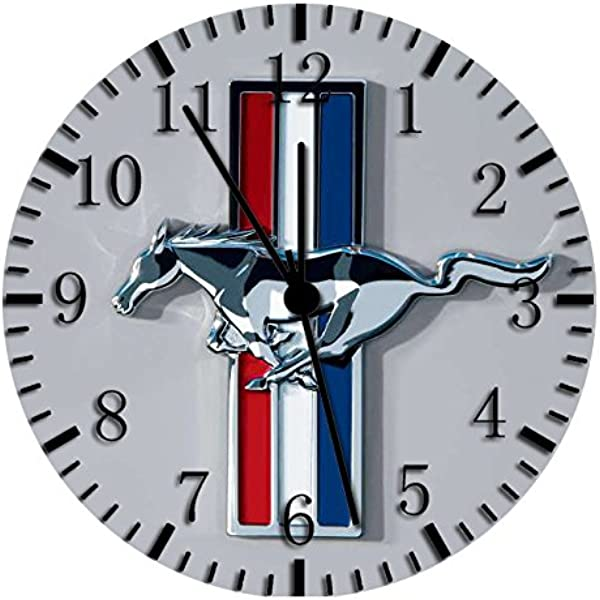 Borderless Mustang Frameless Wall Clock W191 Nice For Decor Or Gifts