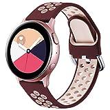 Vobafe Correa Compatible con Samsung Galaxy Watch Active/Active2 Correa 40mm/44mm, Correa Deportiva...