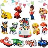 Dog Patrol Kuchen Dekoration Supplies,Paw Patrol Figuren Torte,Kinder Geburtstag Party Torte Deko Supplies,Tortendeko,Party Kuchen Dekoration Lieferungen