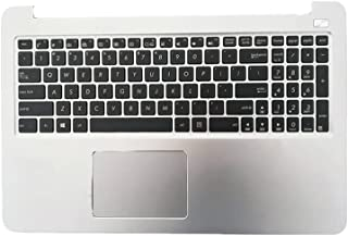 Laptop Upper Case Cover C Shell & Keyboard & Touchpad for ASUS R551 R551L R551LA R551LB White US English Layout Small Ente...