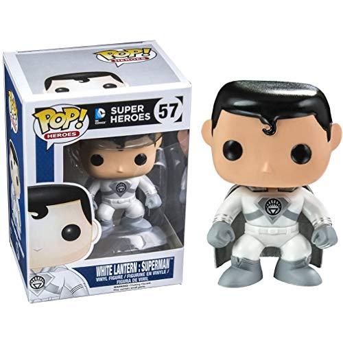 Funko Pop Heroes - White Lantern Superman Figure #57 Derivatives ,Multicolor for Boy