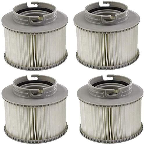 Spa-Filter, Ersatz-Filterkartuschen für MSpa Bubble Spa Whirlpools (verbesserte 2020 Version für alle MSpa Modelle), MSpa Whirlpool Ersatz Filter Filterkartusche für aufblasbare Pools.(4 Stück)