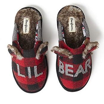 Dearfoams unisex adult Grand Bear Slipper
