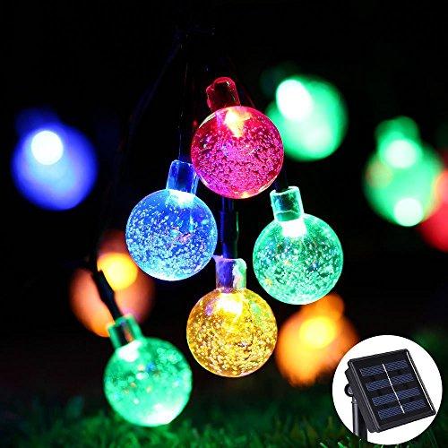 Solar Lichterkette Bunt für Aussen, Tomshine Solar Lichterkette Außen mit 30 LED Kugel für Outdoor, Wasserdicht 5.6 Meter, Solarlichterkette für Garten, Party, Hochzeit, Weihnachten