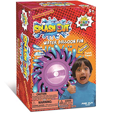 Far Out Toys Ryan's World Splash Out Game | Hot Potato Water Balloon Time-Bomb Game! Get Loud, Get Wild, Just Don't Get Splashed | Hilarious Game for Family Fun, For Ages 5 and Up