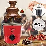 fontaine à chocolat - 60 w, 3 étages, capacité 400 g, électrique, h 24.5 cm, en acier inoxydable,