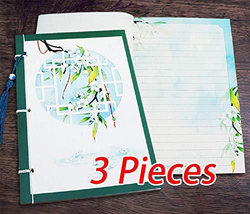 Wangwang454 Cuaderno Libro De Pintura Diario Exquisito Cuaderno Retro A5 3 Piezas De Regalo Diario Estilo Antiguo Pintura Creativa Ilustración Pequeña Libreta De Estilo Chino Fresco