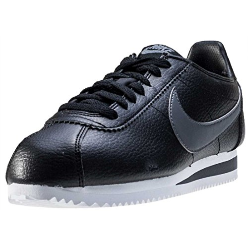 Nike Herren Classic Cortez Leather Laufschuhe, Negro / Gris / Blanco (Black / Dark Grey-White), 45 EU