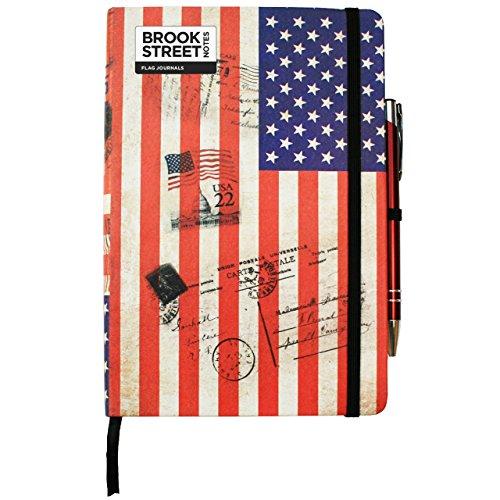 USA Flag Notebook - Hardback A5
