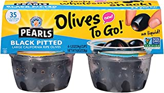 Pearls Olives To Go! 1.2 oz. Large Ripe Pitted Black Olives, 24-Cups