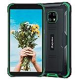 Blackview BV4900 PRO, Android 10 4G SIM-Free Robust Unlocked Cell Phones, 4 GB RAM 64 GB ROM, 13 MP + 5 MP Waterproof Camera, 5580 mAh Battery, Dual-SIM-GPS NFC IP68 Smartphone Green
