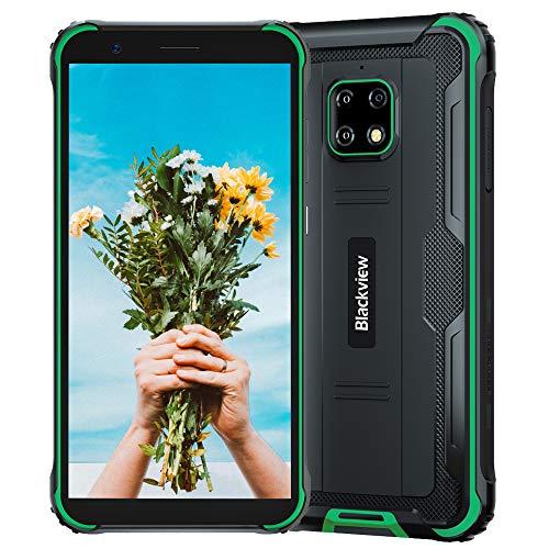 Blackview BV4900 Pro (2020) Android 10 4G, Teléfono Móvil Resistente, 4 GB de RAM, 64 GB de ROM, Cámara Impermeable de 13 MP + 5 MP, Batería de 5580 mAh, Doble SIM GPS NFC IP68, Verde