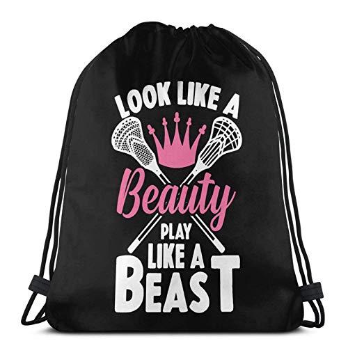 Sehen Sie aus wie EIN Schönheitsspiel wie EIN Biest Drstring Bapa Sports Gym Sapa Reisetasche für Kinder Männer Frauen