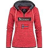 Geographical Norway - Sudadera para Mujer (Coral, L)