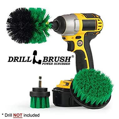All Purpose Bathroom Surfaces Shower, Tub, and Tile Power Scrubber Brush Cleaning Kit