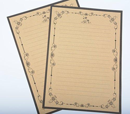 IMagicoo 64 Vintage Retro Cute Design Writing Stationery Paper Pad Letter Set (khaki-2) Photo #5