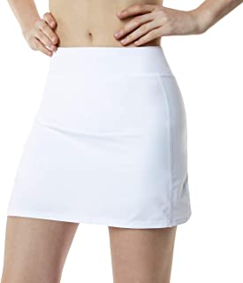 TSLA Women's Athletic Skorts Lightweight Active Tennis Skirts, Workout Running Golf Skirt with Pockets Built-in Shorts
