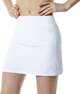 Women's Compression Skort Active Running Tennis Performance Skirt w Mesh Pocket