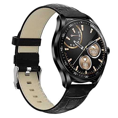 BNMY Smartwatch Relojes Inteligentes Hombre, Reloj Inteligente con Pulsómetro, Cronómetros, Calorías, Monitor De Sueño, Impermeable IP68 Reloj Deportivo para Android iOS,I